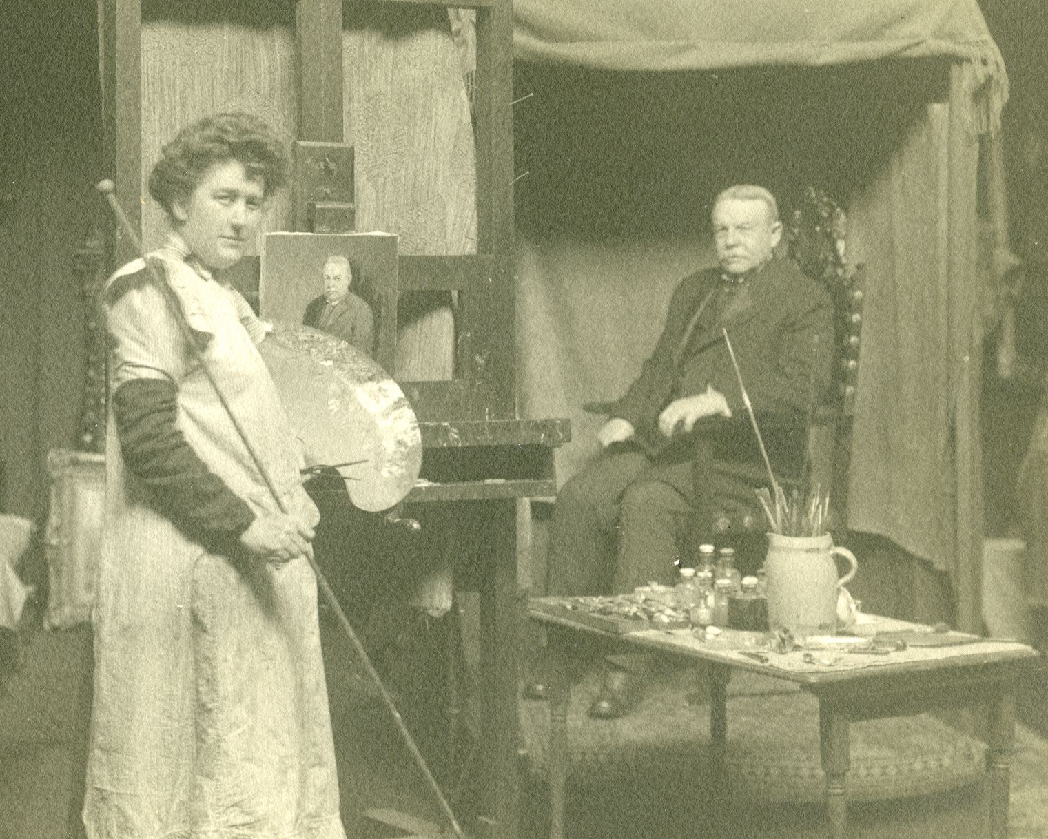 Ruth and John Burgess in her New York studio