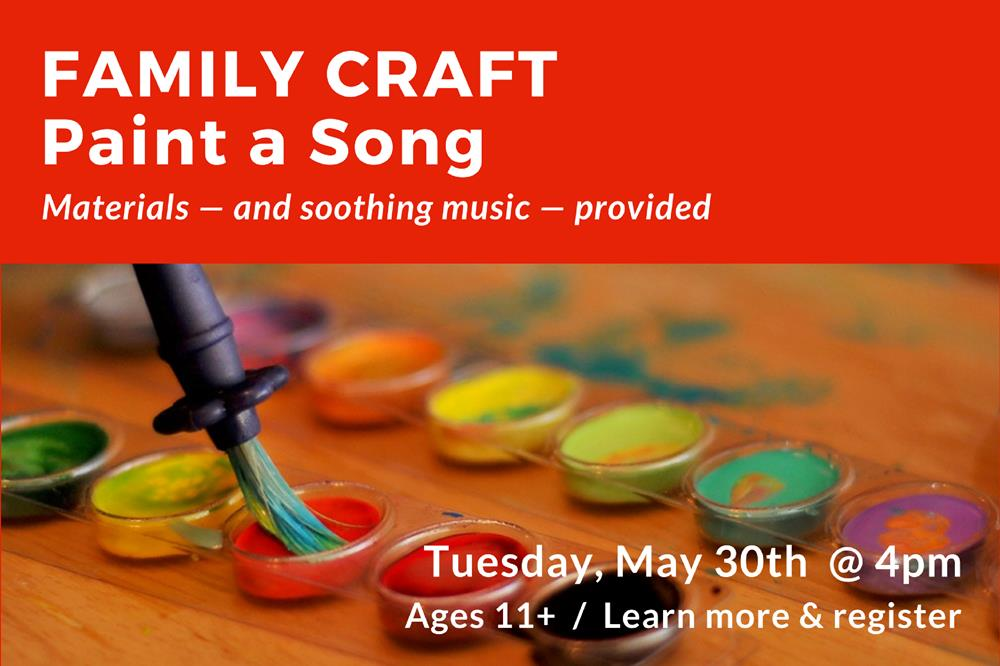 Family Craft - Paint a Song