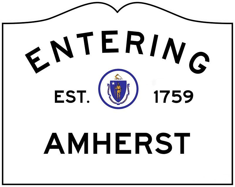 Entering Amherst Sign