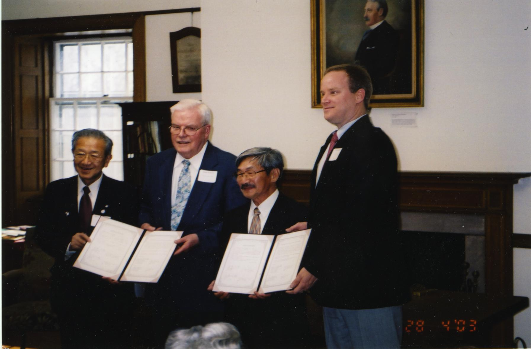 Kanegasaki Sister City Agreement Signing, 2003