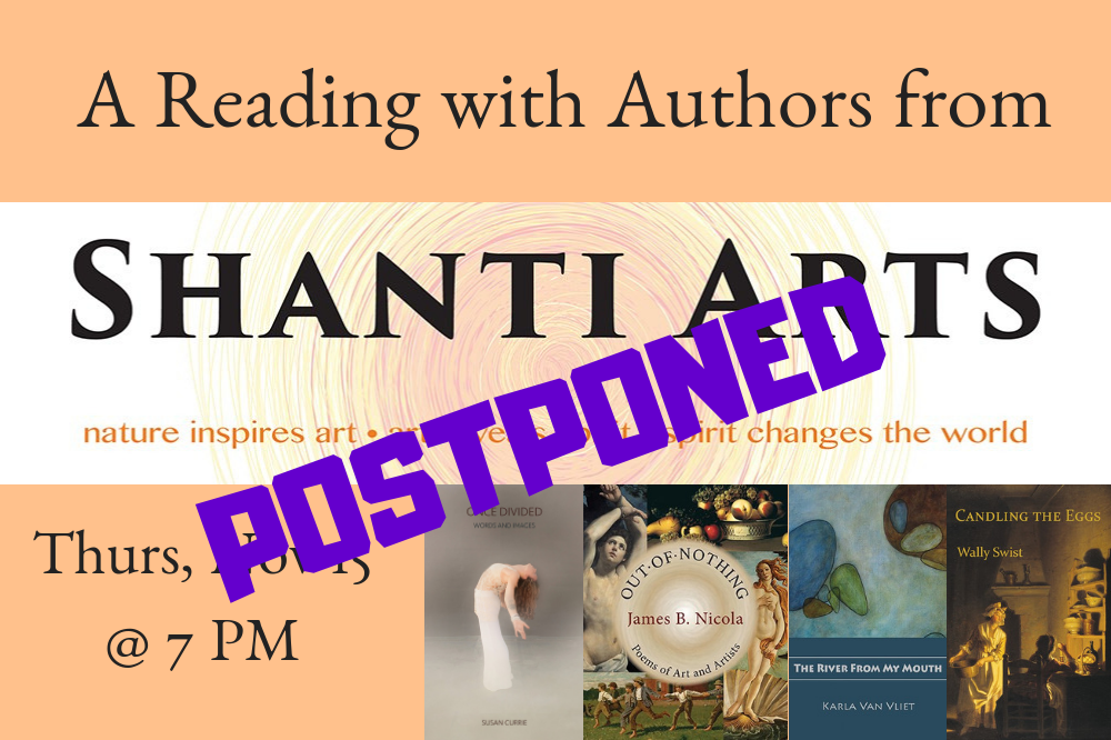 A Reading with Shanti Arts Authors - Event Postponed