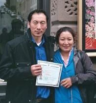 Ngawang Lobsang (Tibet) & wife Tsultrim - October 26, 2011 (tutor: Bill Holladay)