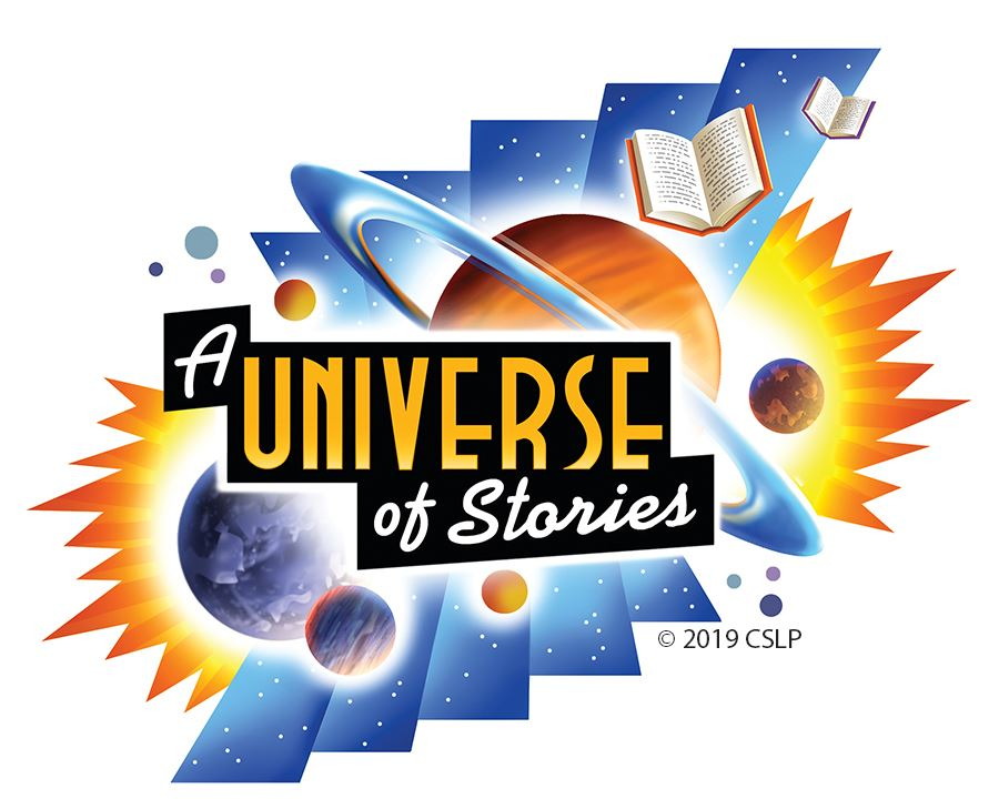 Summer Reading 2019 - A Universe of Stories - Logo