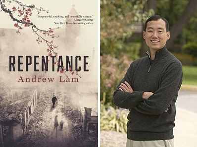 Andrew Lam with book cover