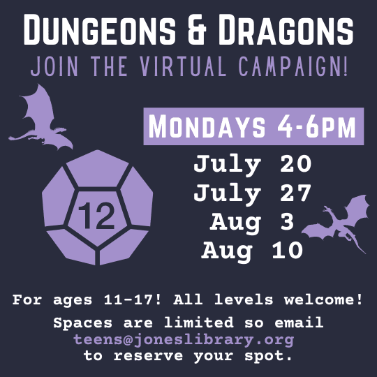 virtual dungeons and dragons for teens