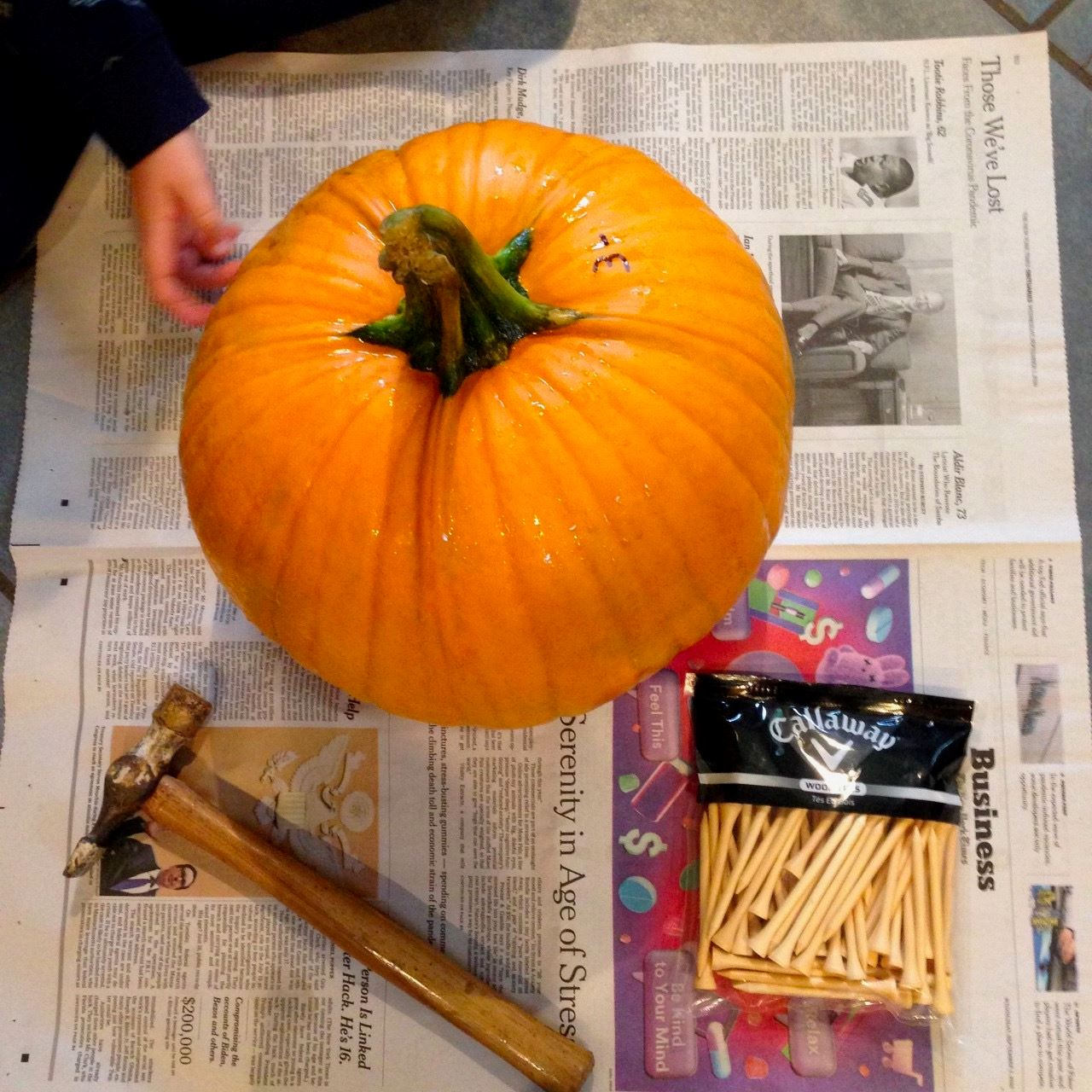 At Home Activity_Pumpkin Hammering Supplies