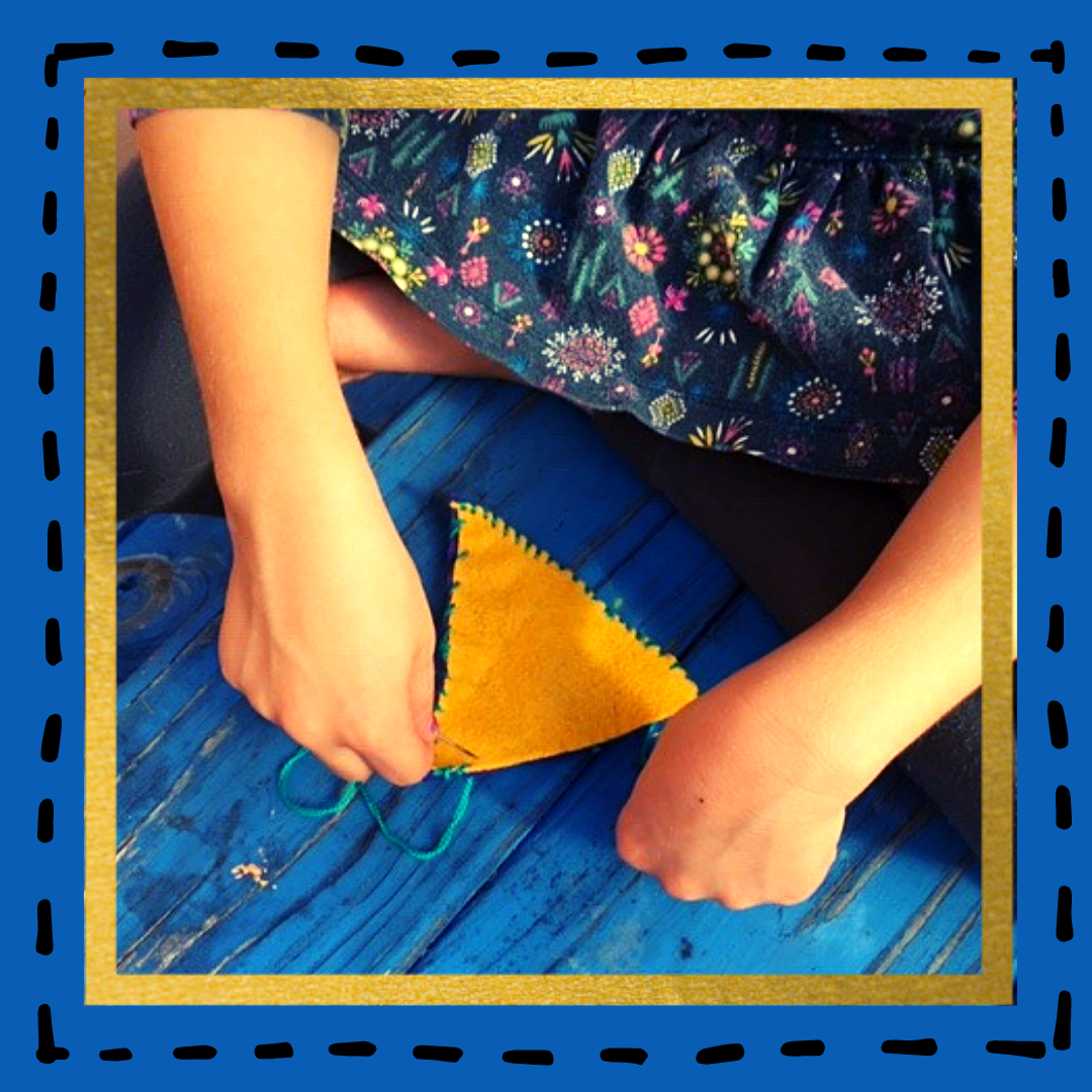 Kids Sewing With Felt