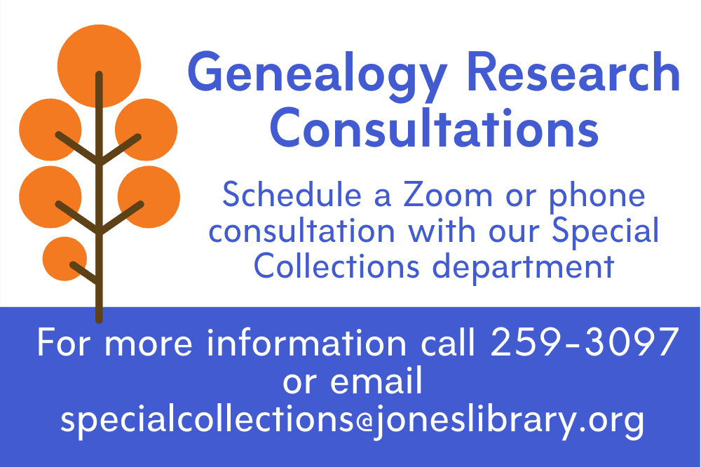 Genealogy Research Consultations now available