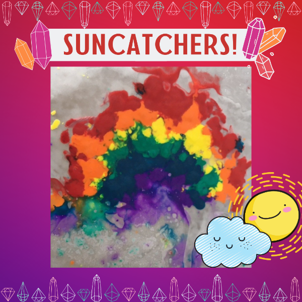 Art Prompt_ Sun Catcher melted crayon wax