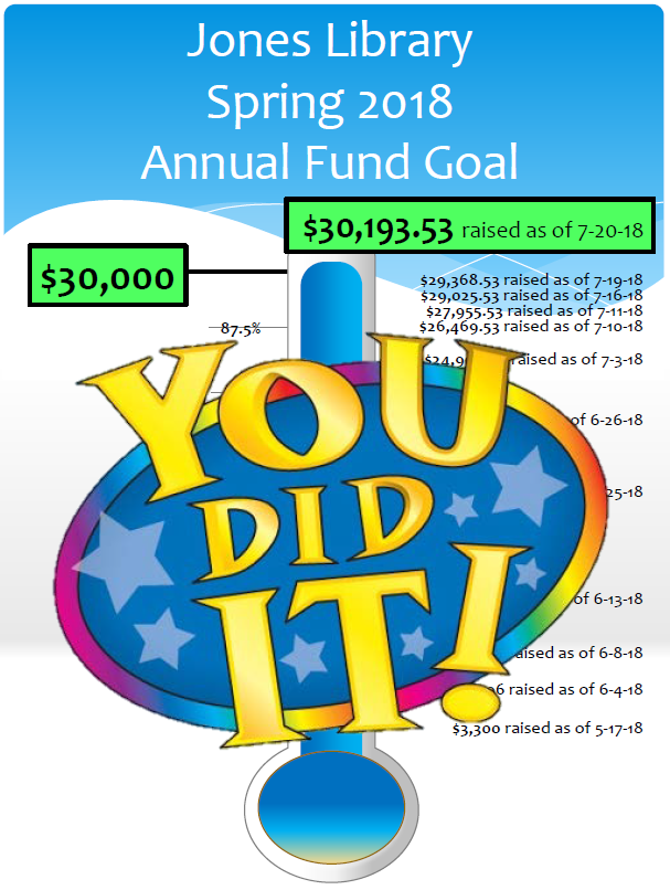 We reached our Spring 2018 Annual Fund Goal!