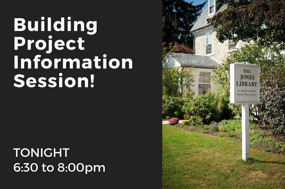 Building Project Information Session - TONIGHT