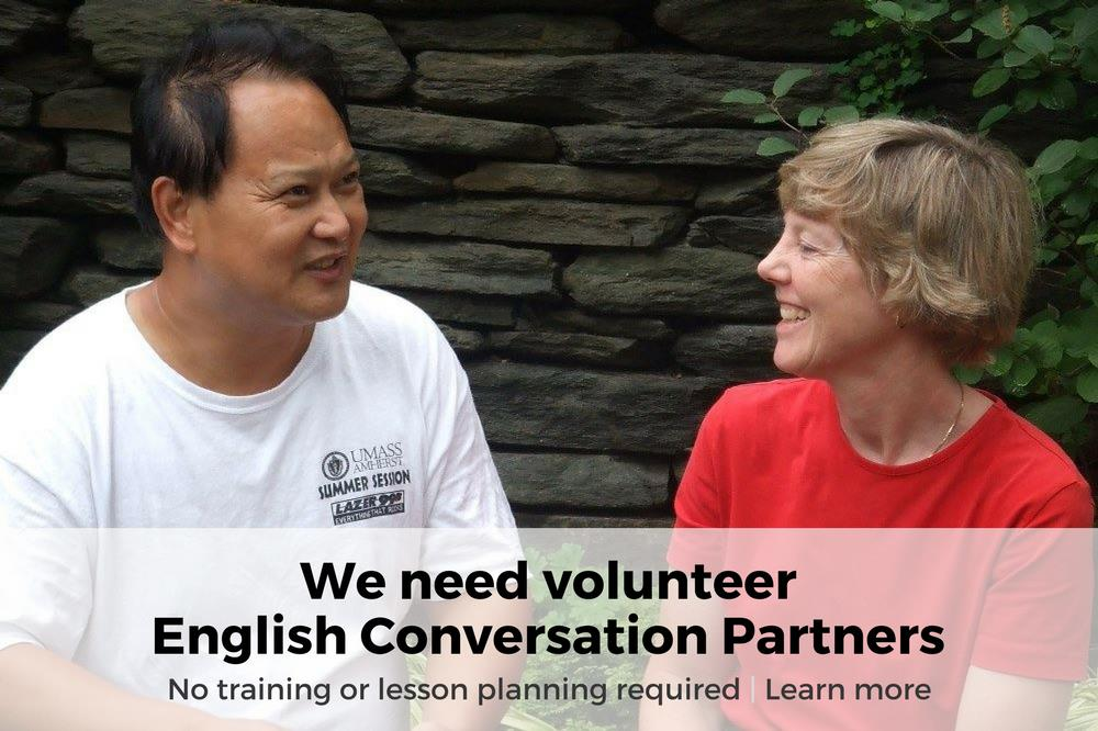 We Need Volunteer English Conversation Partners