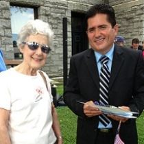 Cristobal Espinoza (El Salvador) with tutor Claudia Rhodes - July 4, 2013